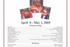 Once Upon a Mattress April 2005