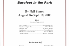 Barefoot in the Park Aug 2005