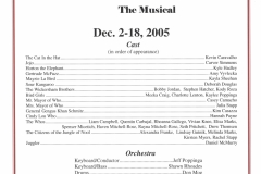 Seussical the Musical Dec 2005