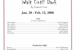Wait Until Dark Jan 2006
