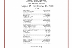 The Adventures of Tom Sawyer Aug 2008