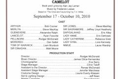 Camelot Sept 2010
