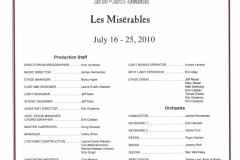 Les Miserables July 2010