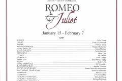 Romeo and Juliet Jan 2016