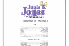 Junie B Jones Sept 2016